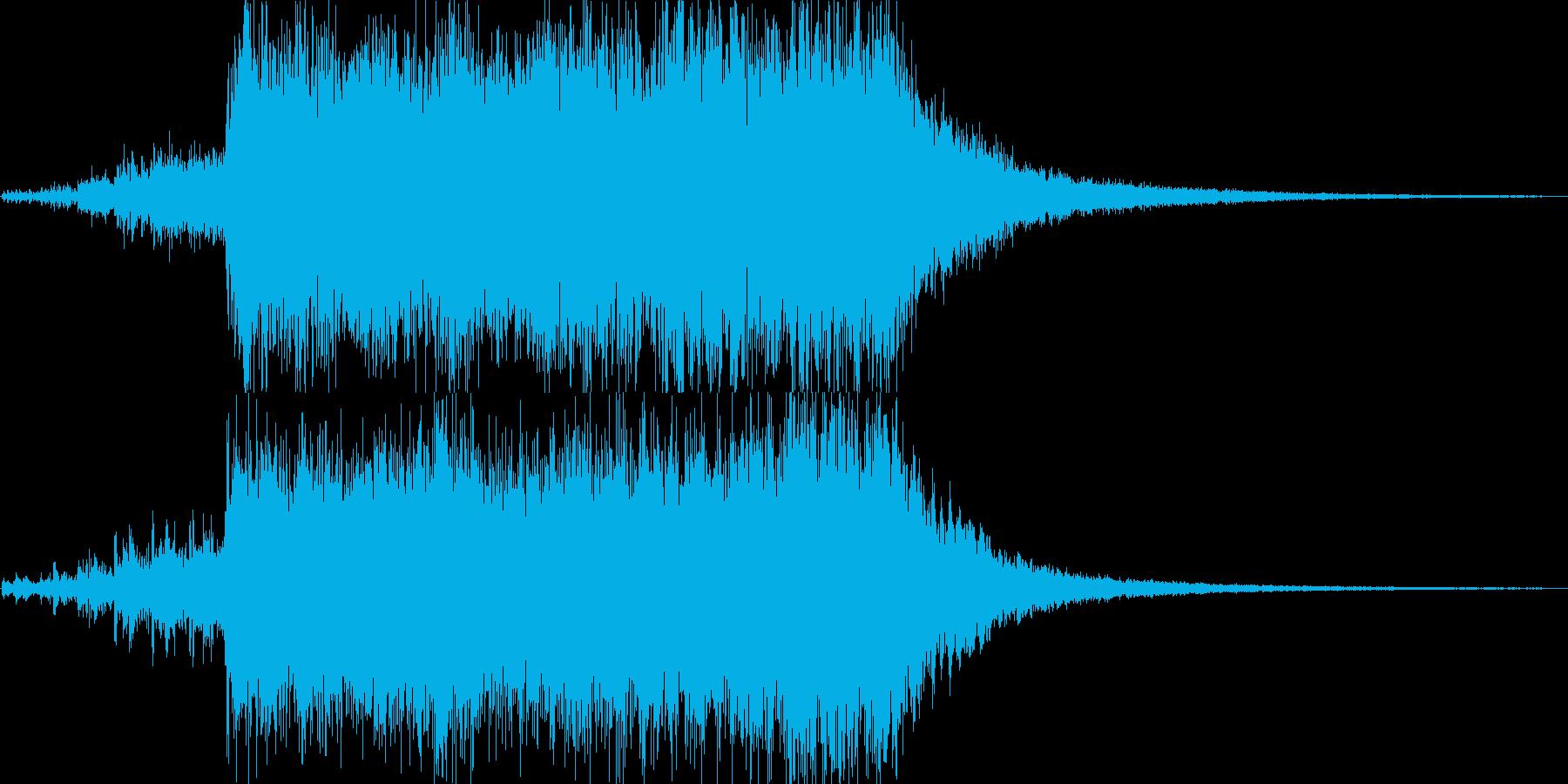 壮大なオーケストラによるファンファーレの再生済みの波形