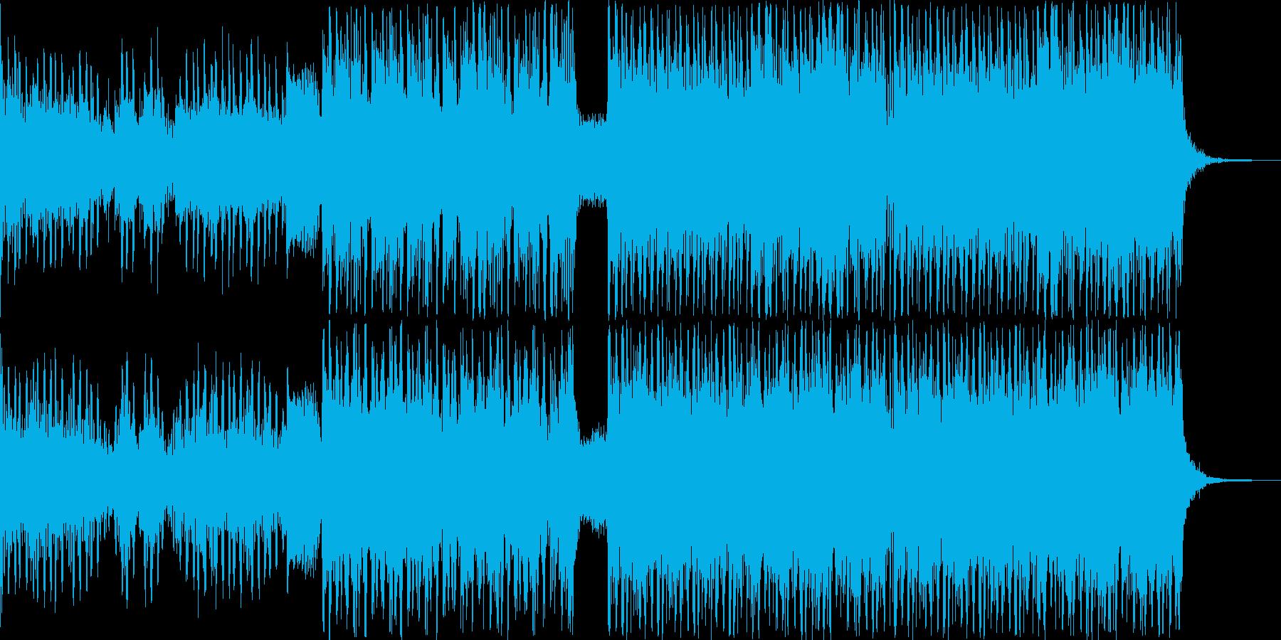 切迫した雰囲気のEDMの再生済みの波形