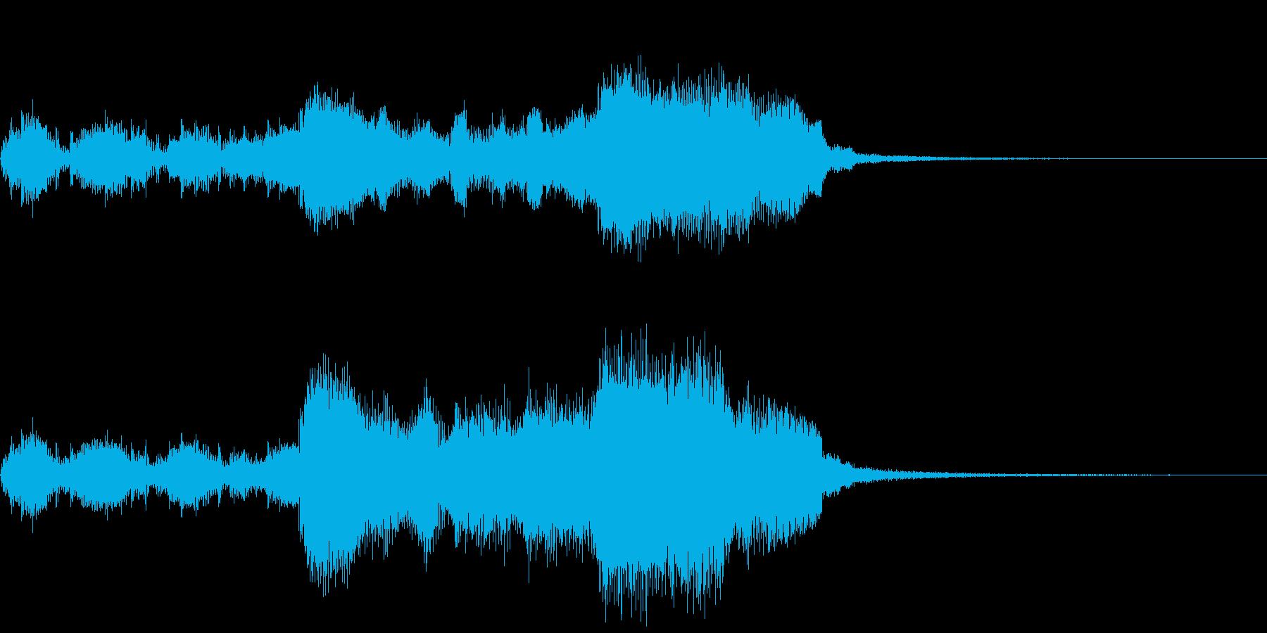 ティンパニロールと金管楽器~結果発表~の再生済みの波形