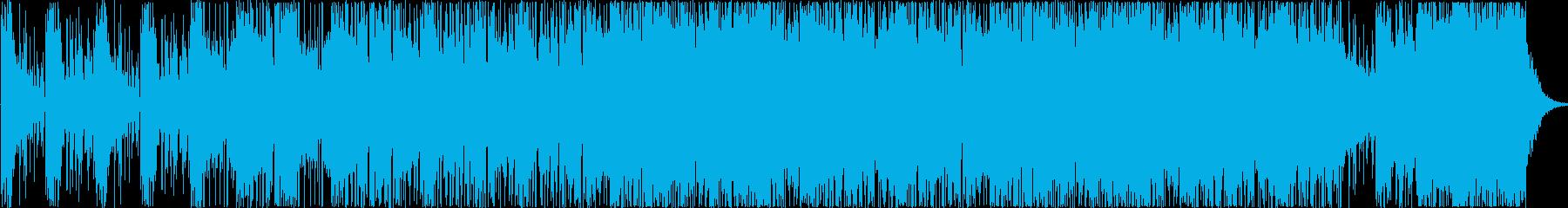 暗い緊張感のあるダークなイメージの曲の再生済みの波形