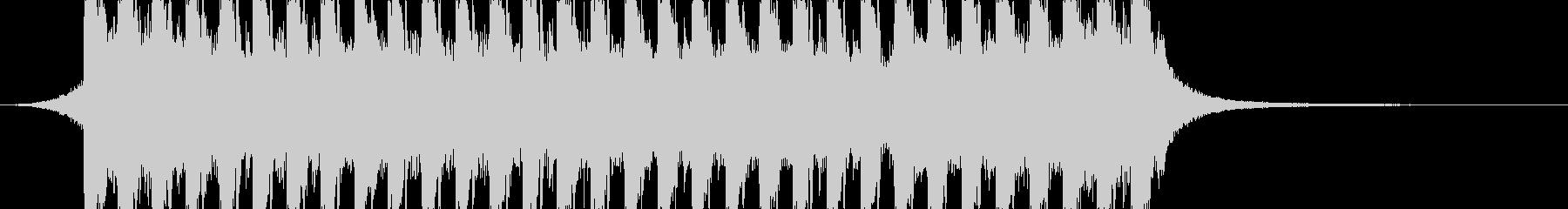 洋楽、夏らしいトロピカルハウス3、15秒の未再生の波形