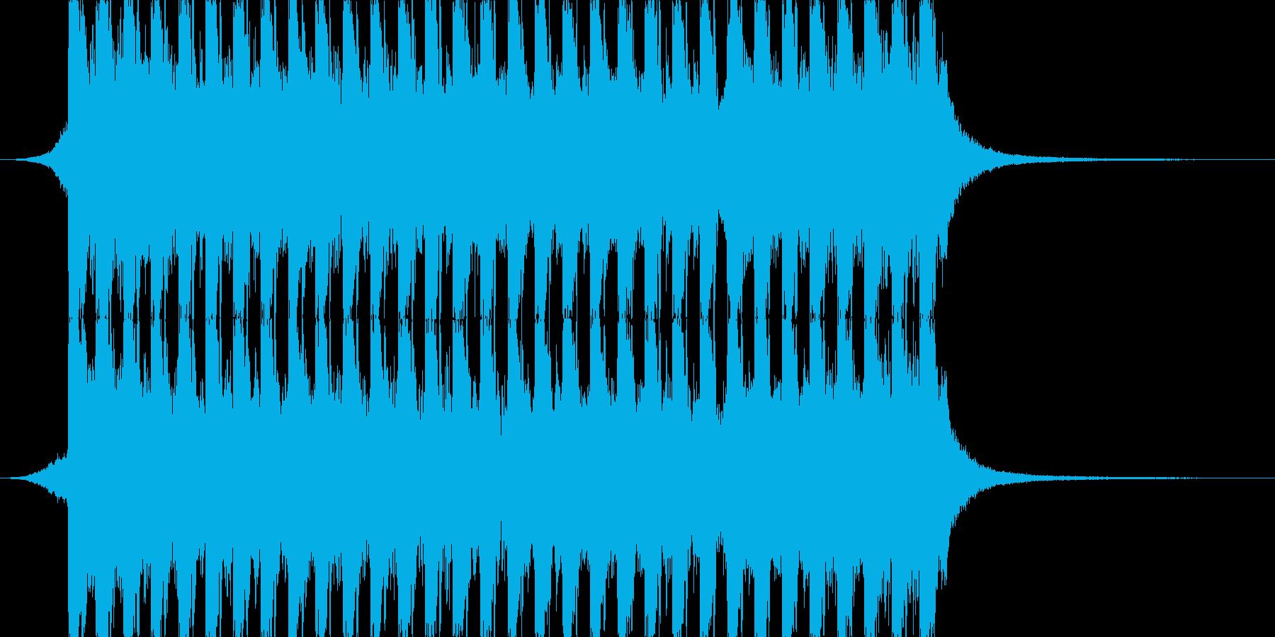 洋楽、夏らしいトロピカルハウス3、15秒の再生済みの波形