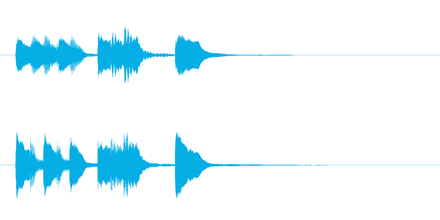 【明から明スイッチ2】の再生済みの波形