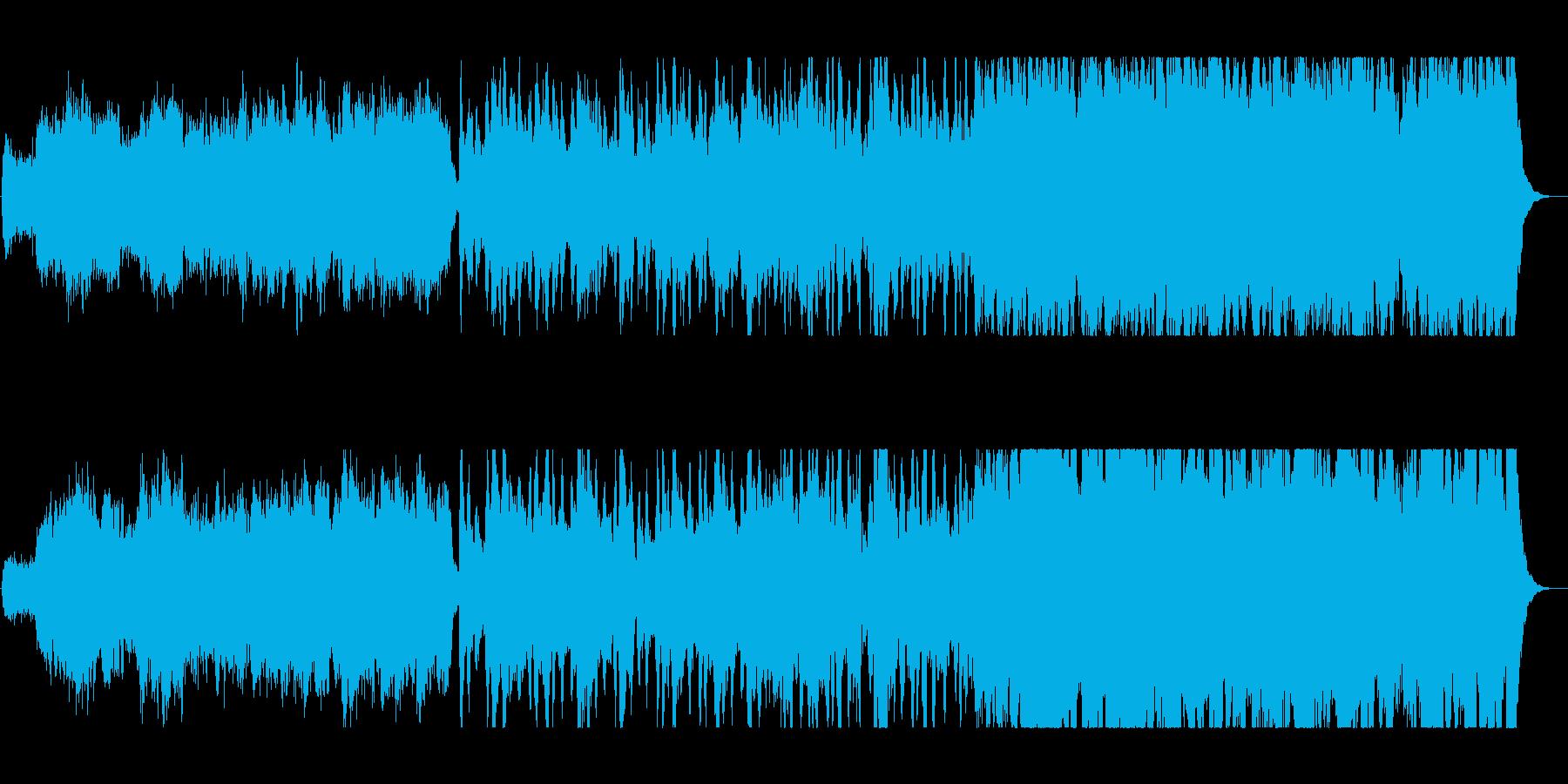 壮大で豪華な管弦楽器シンセサウンドの再生済みの波形