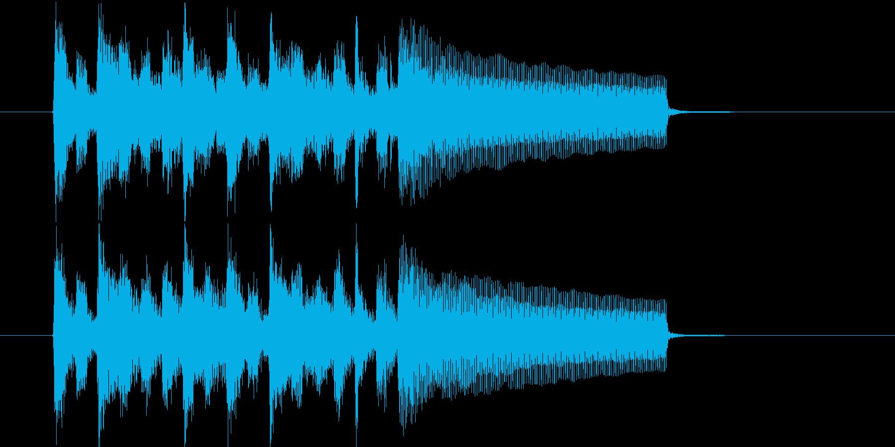勢いあるリズミカルなピアノジングルの再生済みの波形