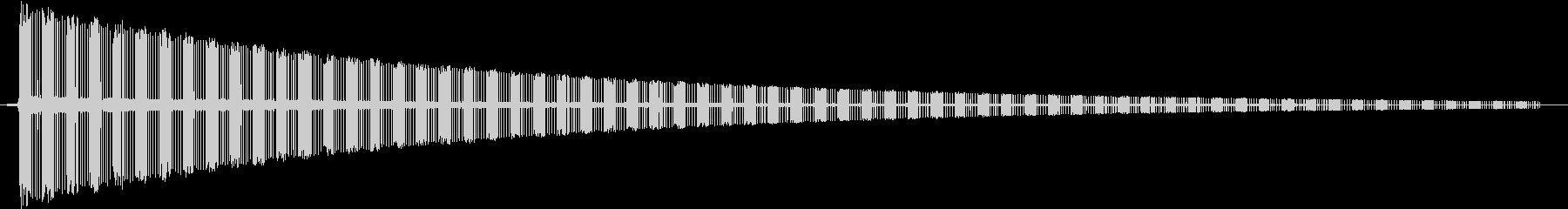 ヂューーーーーーーーーーン です。の未再生の波形