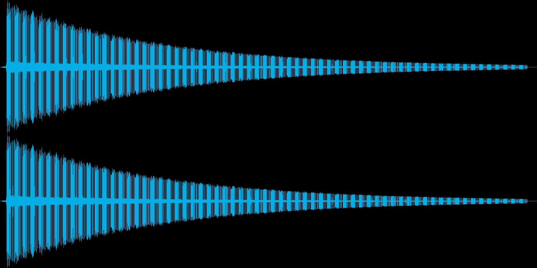 ヂューーーーーーーーーーン です。の再生済みの波形