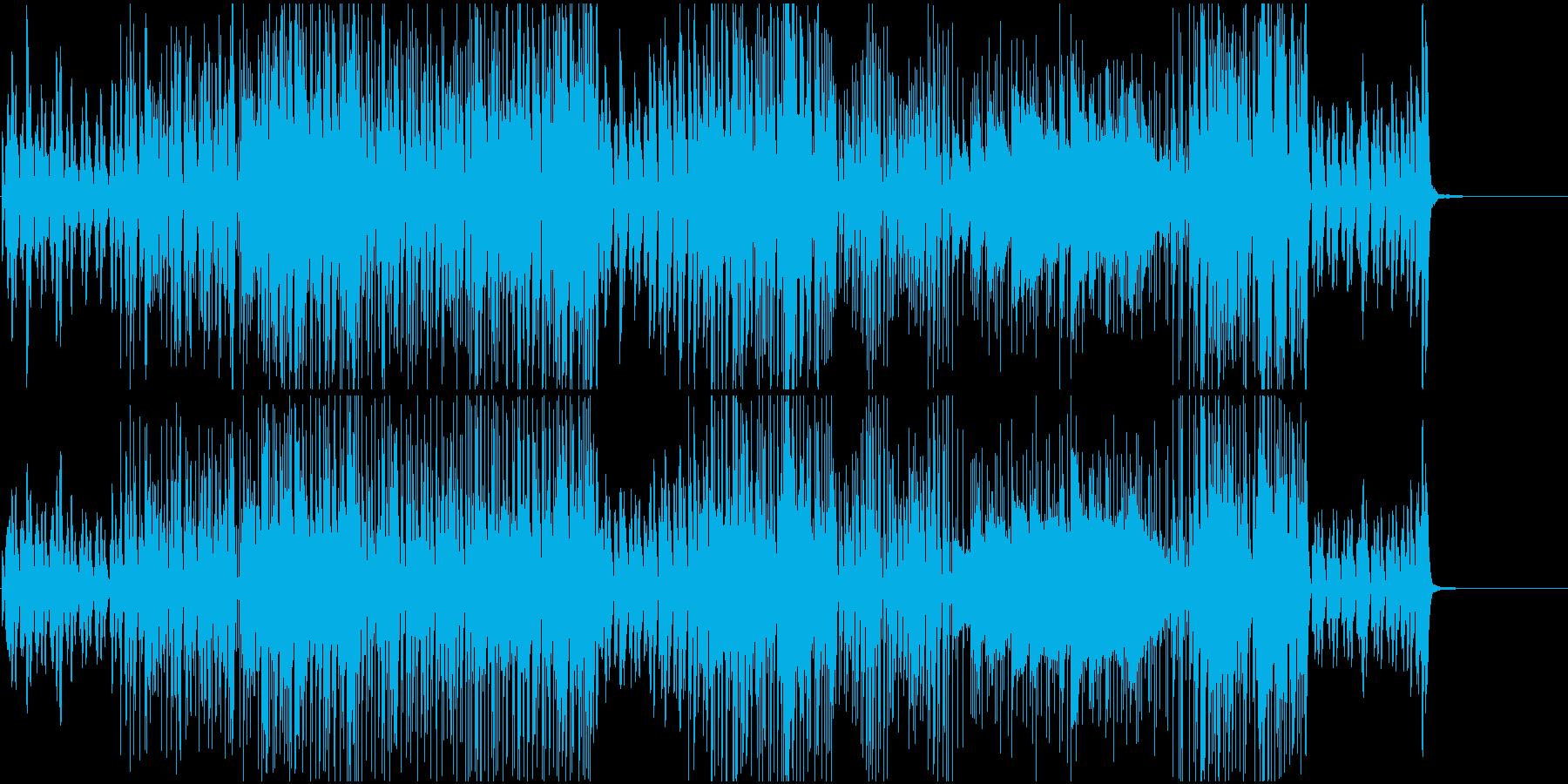 映像BGM 激しいピアノのジャズロックの再生済みの波形