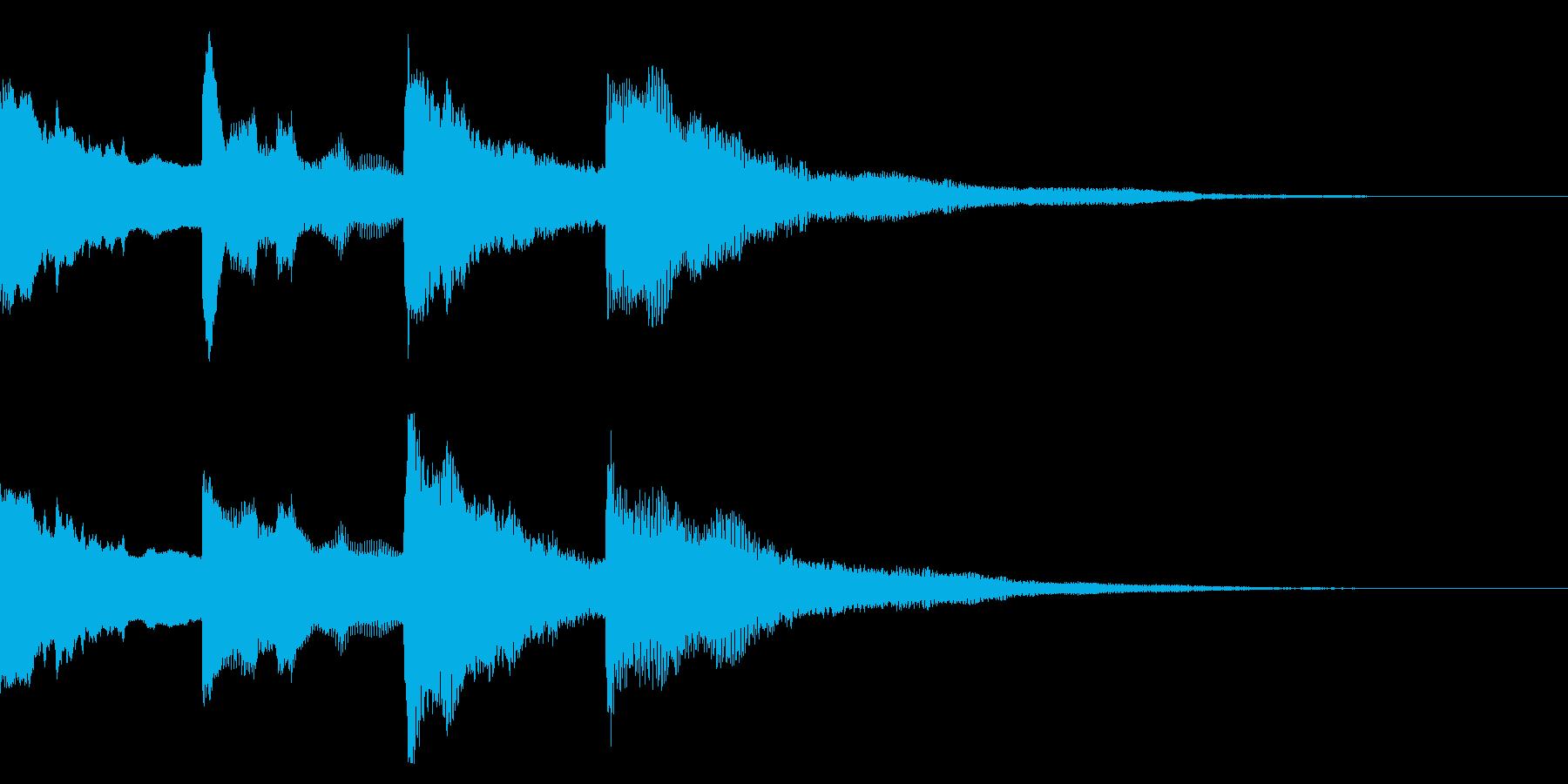 ピンポンパンポン↓ アナウンス 館内放送の再生済みの波形
