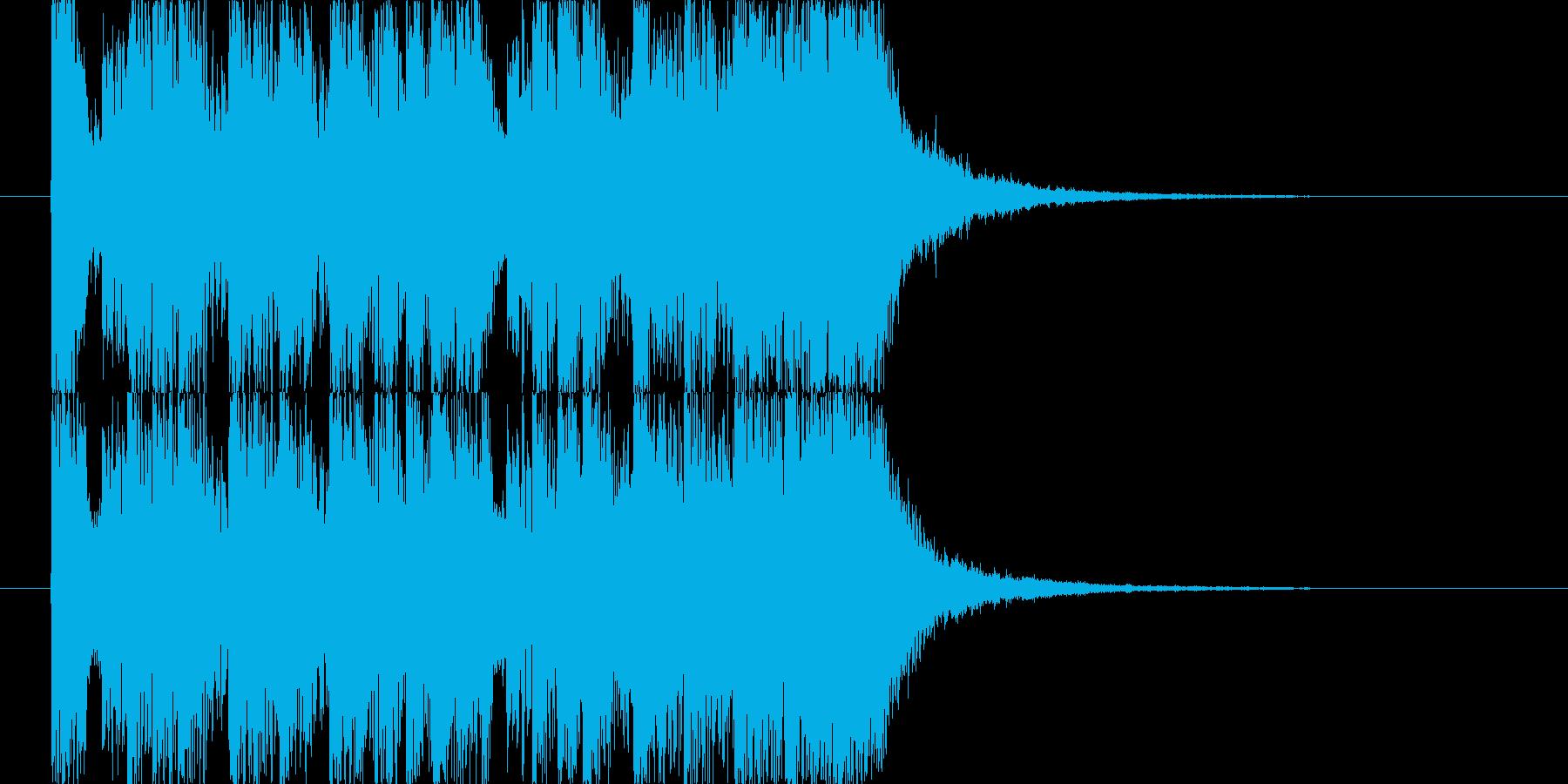 女の子向けアニメ風キラキラジングル J9の再生済みの波形