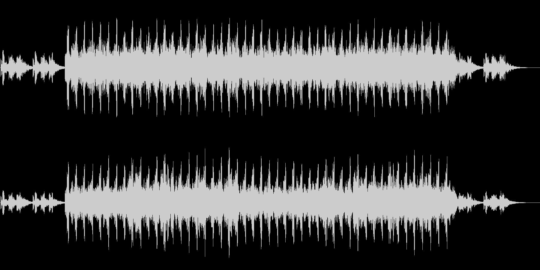 キュートなシンセによるミニマル系BGMの未再生の波形