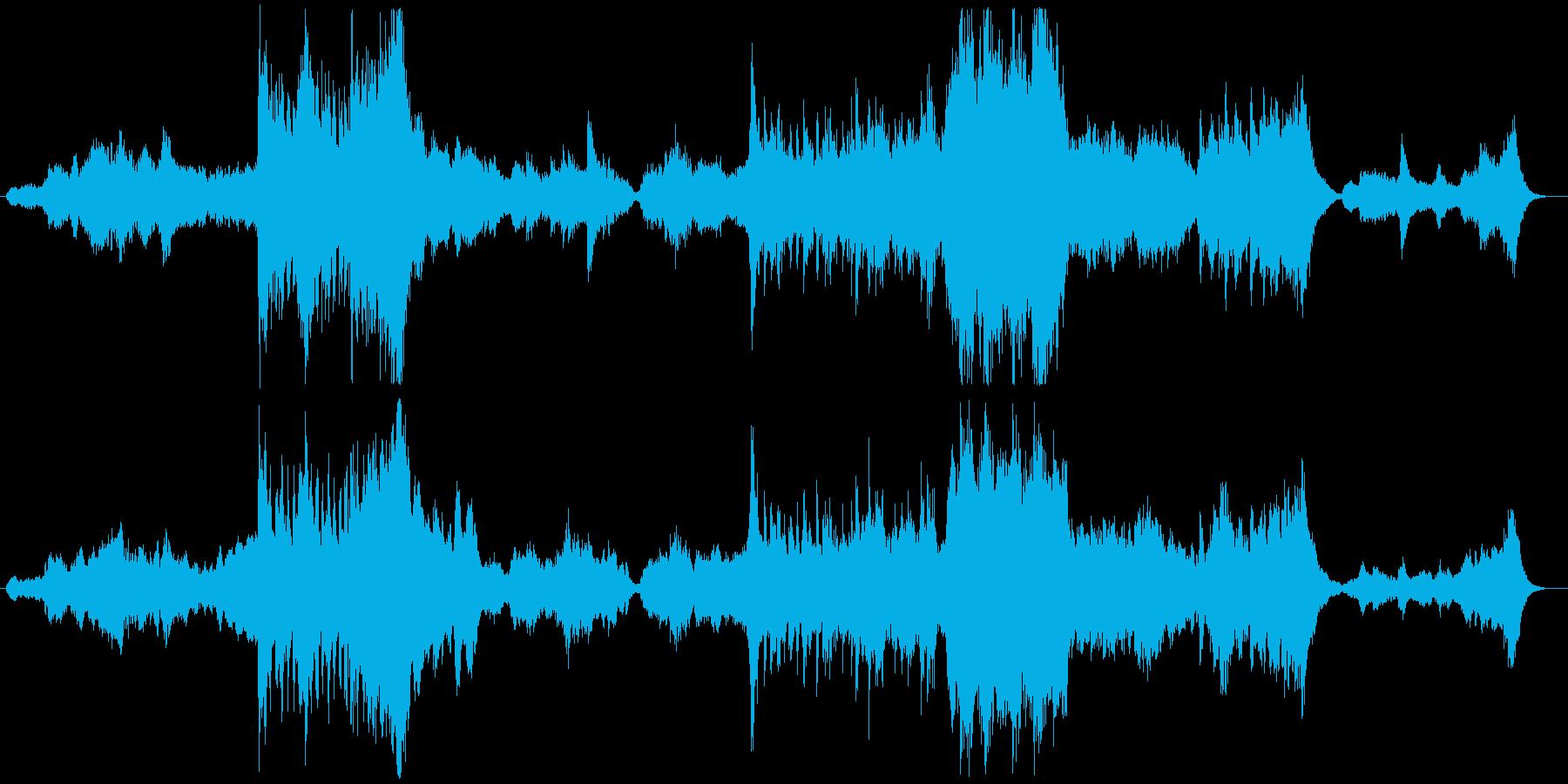 ファンタジーな世界に誘う曲の再生済みの波形