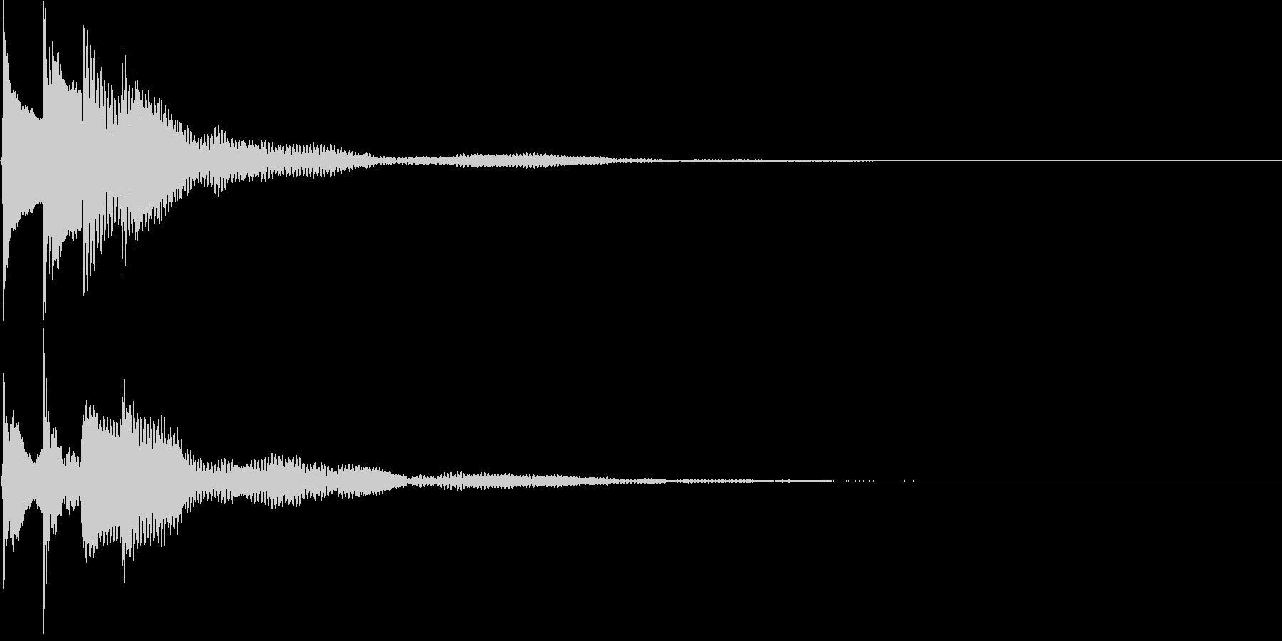 サウンドロゴ26_ピアノAHの未再生の波形
