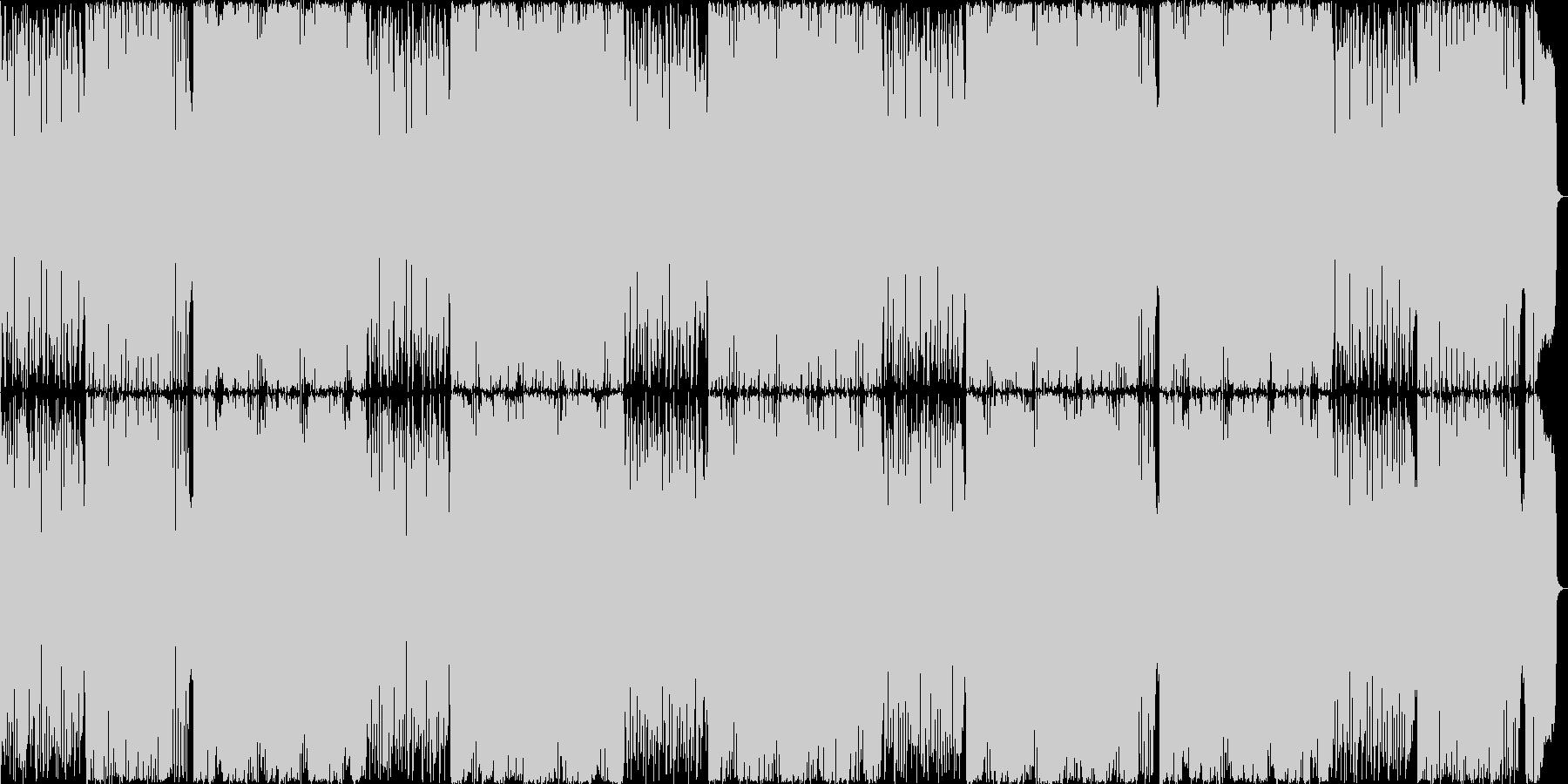 コード進行がかっこいい高速ドラムンベースの未再生の波形