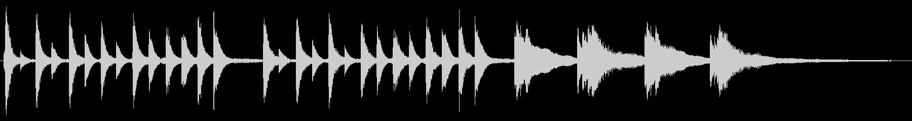 可愛い感じのピアノジングルの未再生の波形