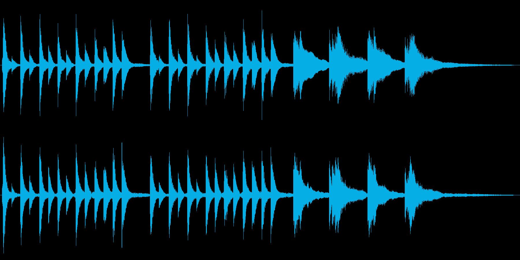可愛い感じのピアノジングルの再生済みの波形