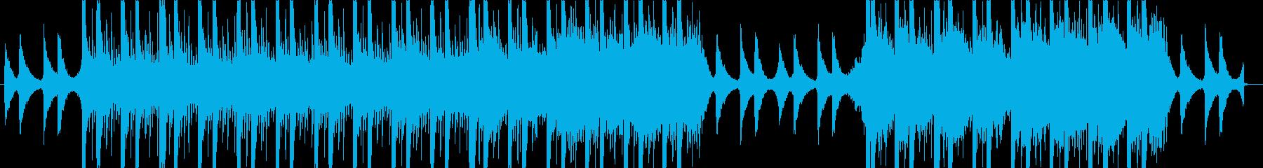 ビート感のあるアンビエンテック系ポップスの再生済みの波形