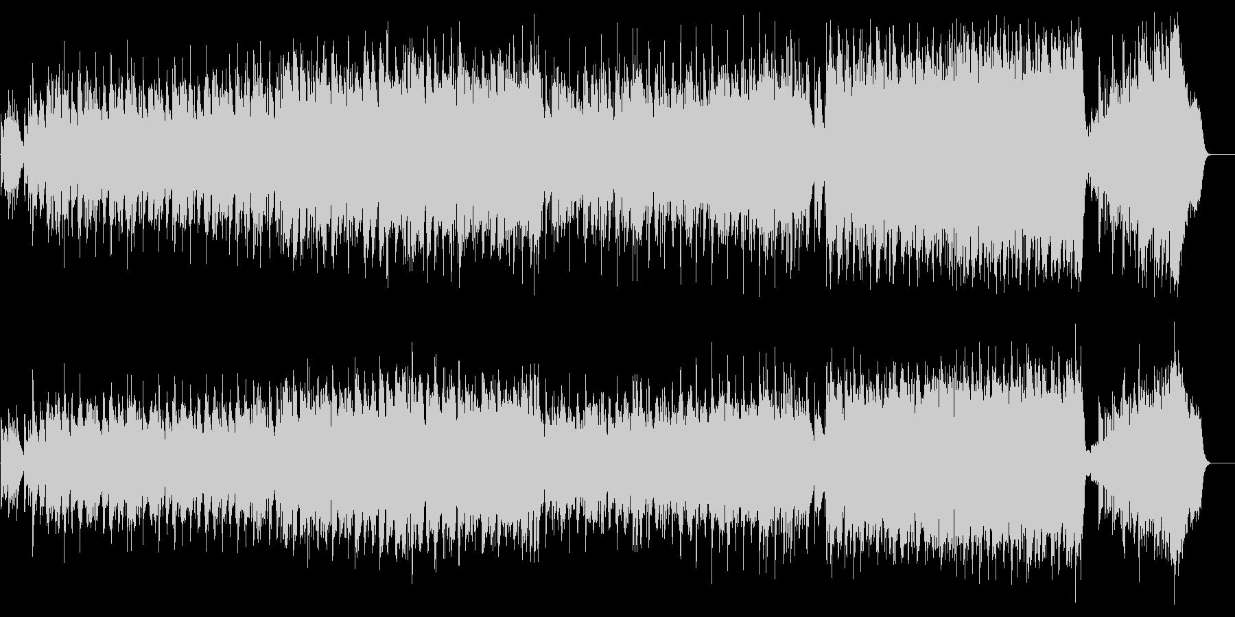 祭典向きウェディング風のバラードの未再生の波形