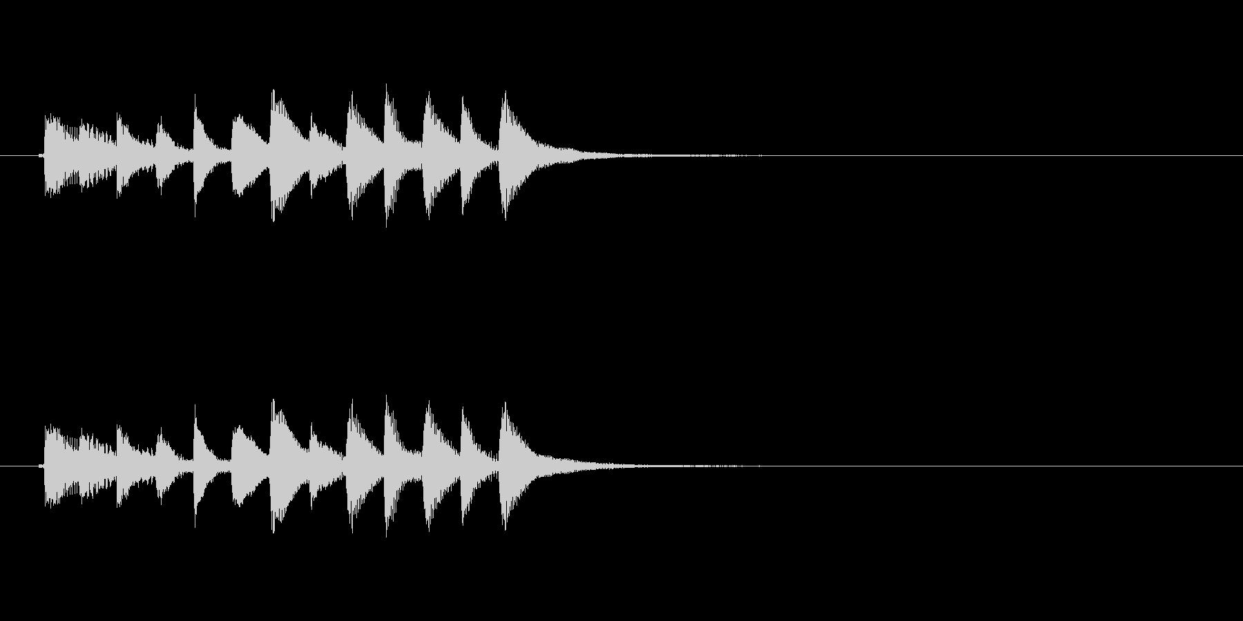 和風効果音 琴7の未再生の波形