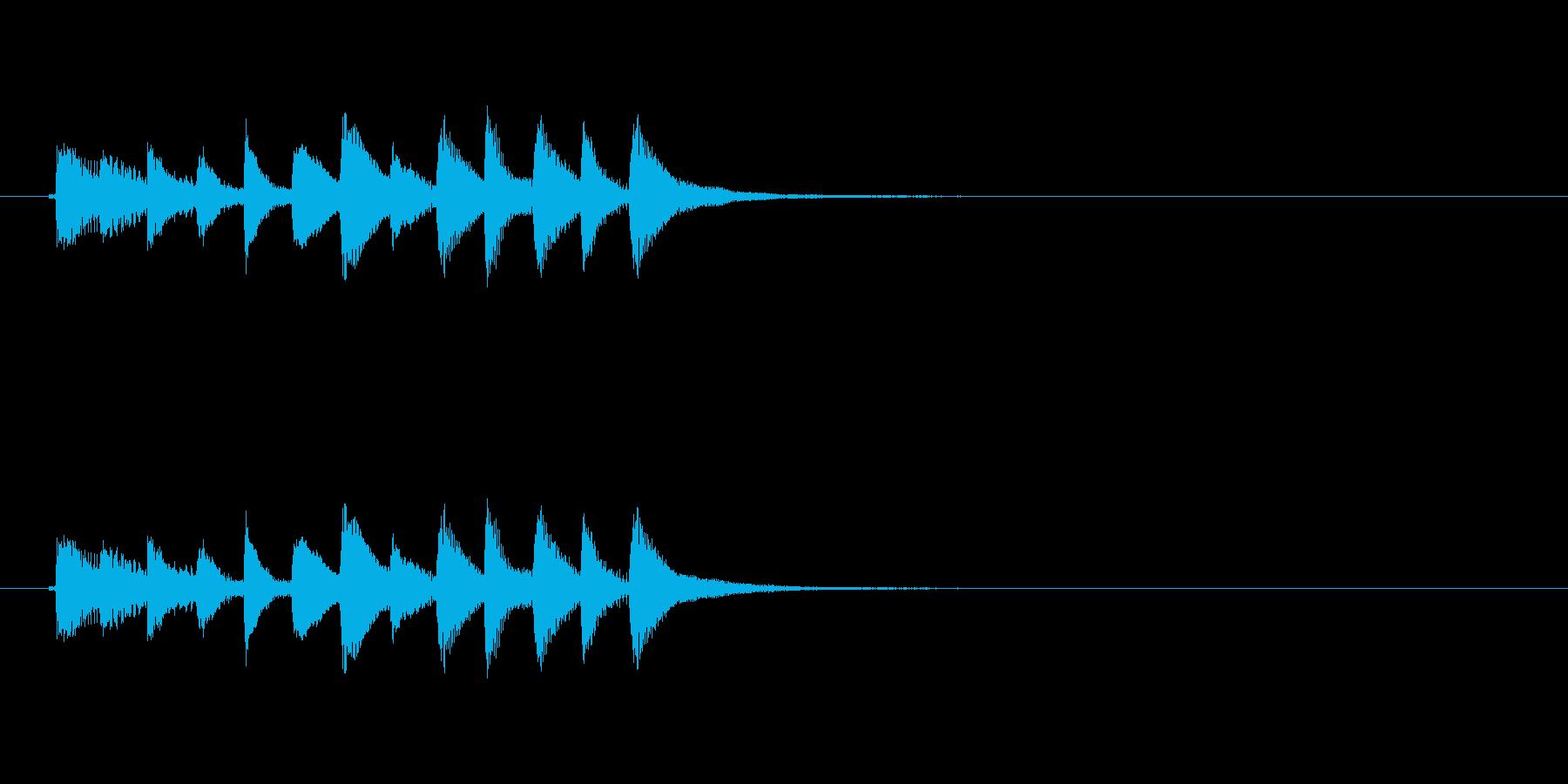 和風効果音 琴7の再生済みの波形