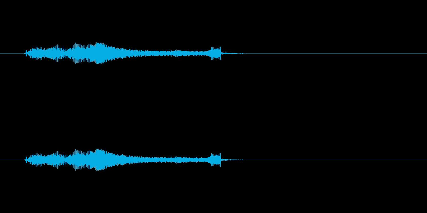 【生音】じじーーじ。長いチャック上げる音の再生済みの波形