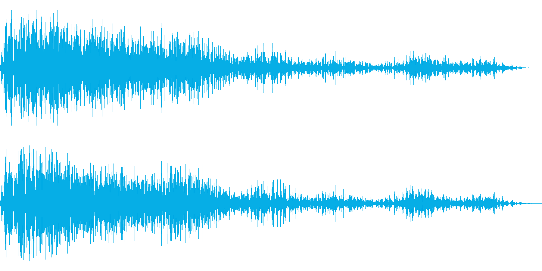 巨大な爆発・遠距離からの衝撃波の再生済みの波形