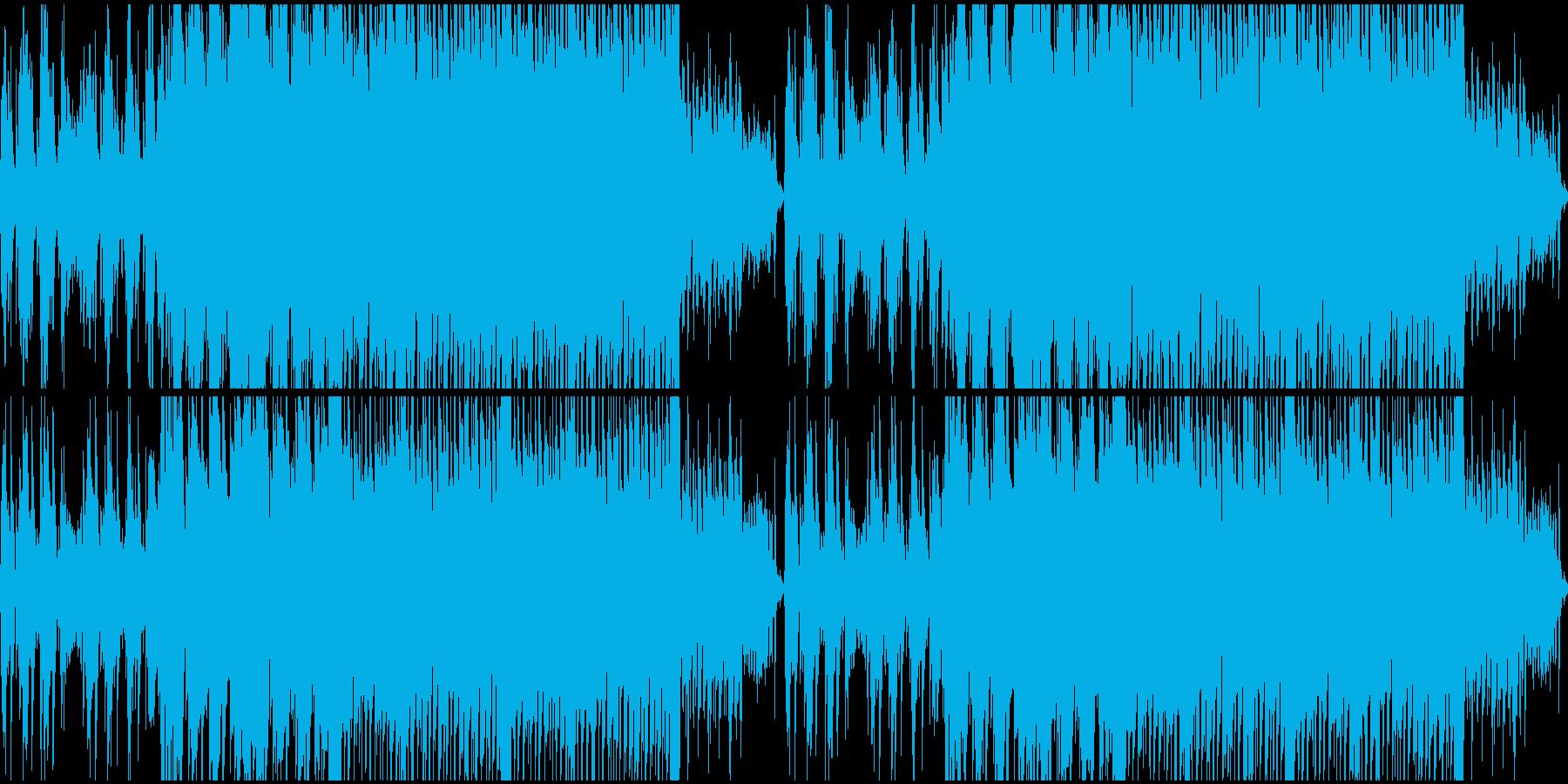 爽やかなピアノソロループの再生済みの波形