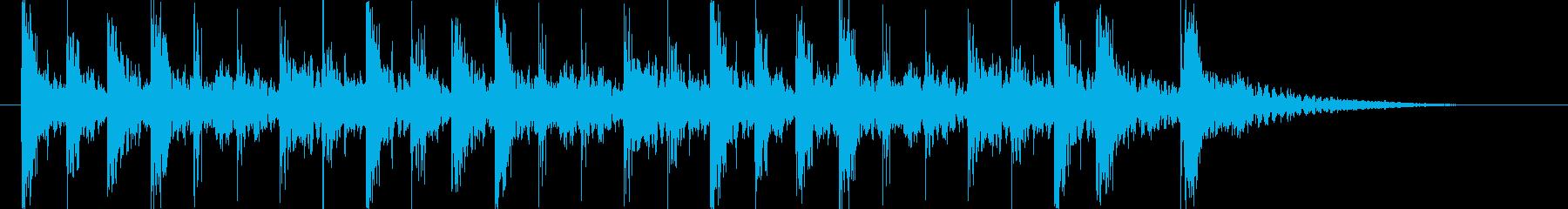 強烈なインパクトのパーカッションロゴ!!の再生済みの波形