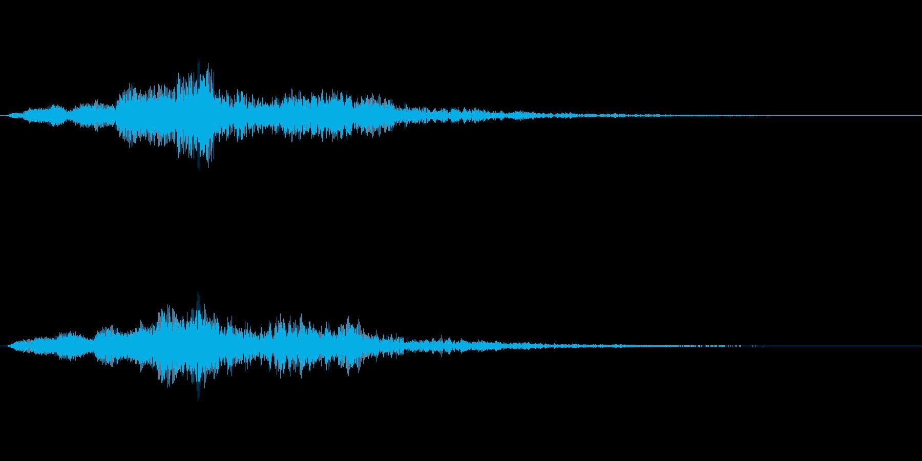 【単音・シリアス01-2】の再生済みの波形