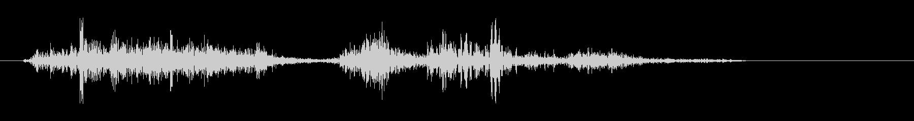 シュパラ(本をめくる音)の未再生の波形
