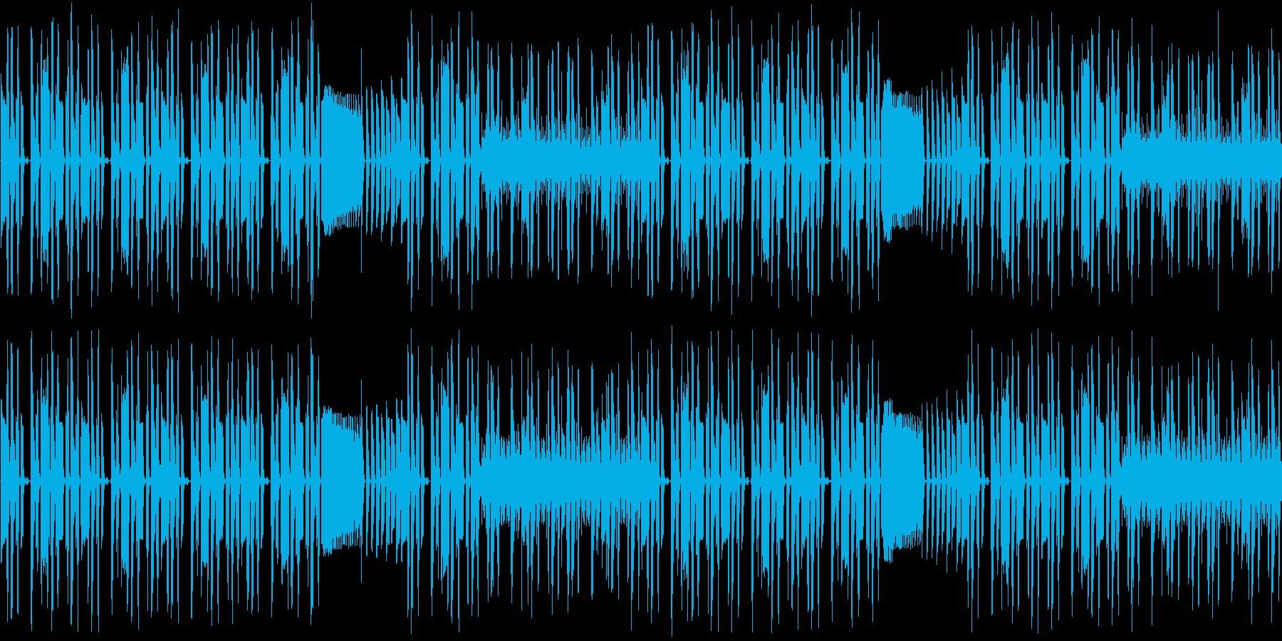 【コミカルなシンセポップ】の再生済みの波形