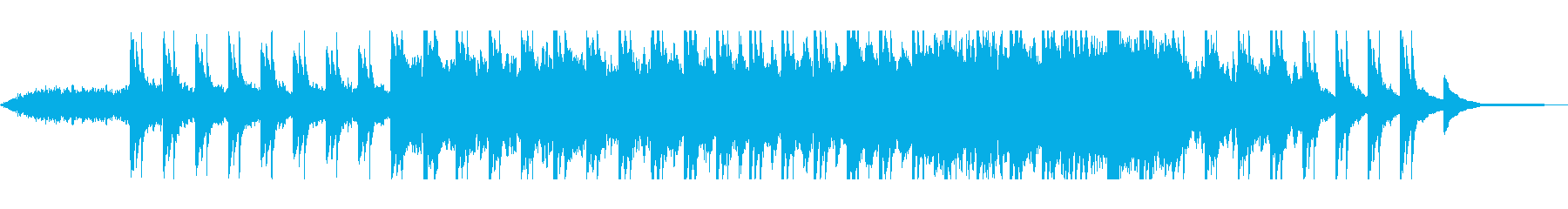 ピアノとシーケンサーのヒーリングの再生済みの波形