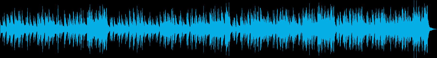 ホンキートンクピアノのかわいいラグタイムの再生済みの波形