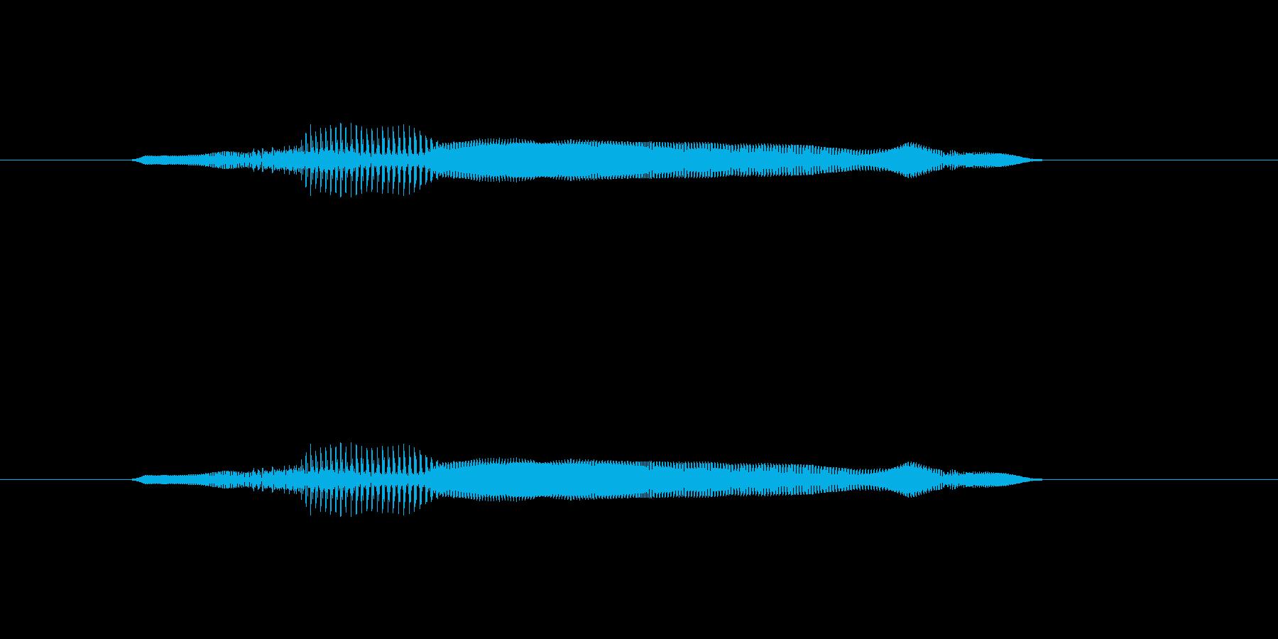 ニャー_猫声-11の再生済みの波形