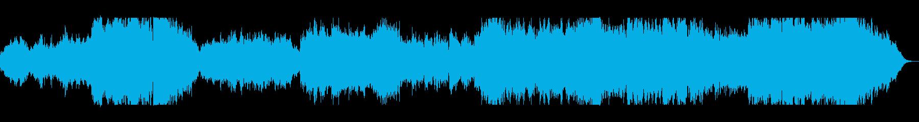 壮大で豪華なシンセ管打楽器サウンドの再生済みの波形
