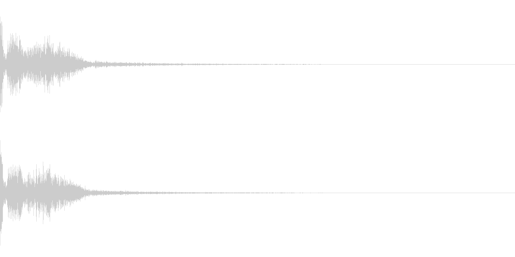映画で使われる銃声(残響音付)の未再生の波形