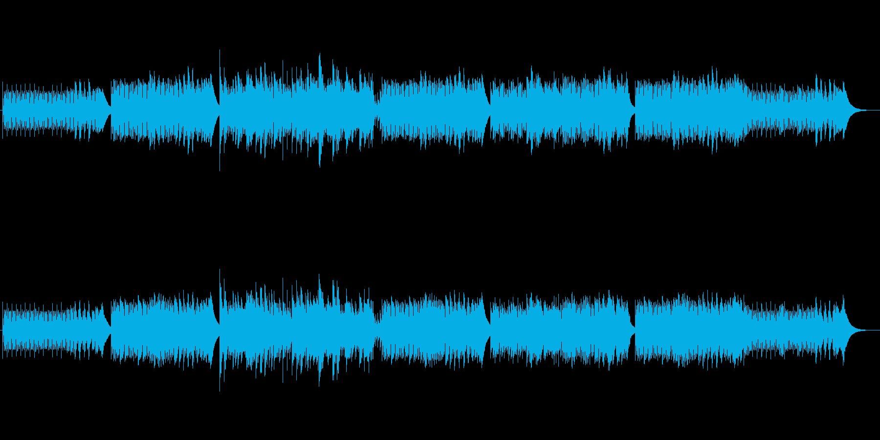 幻想的で悲しいアップテンポな音楽の再生済みの波形