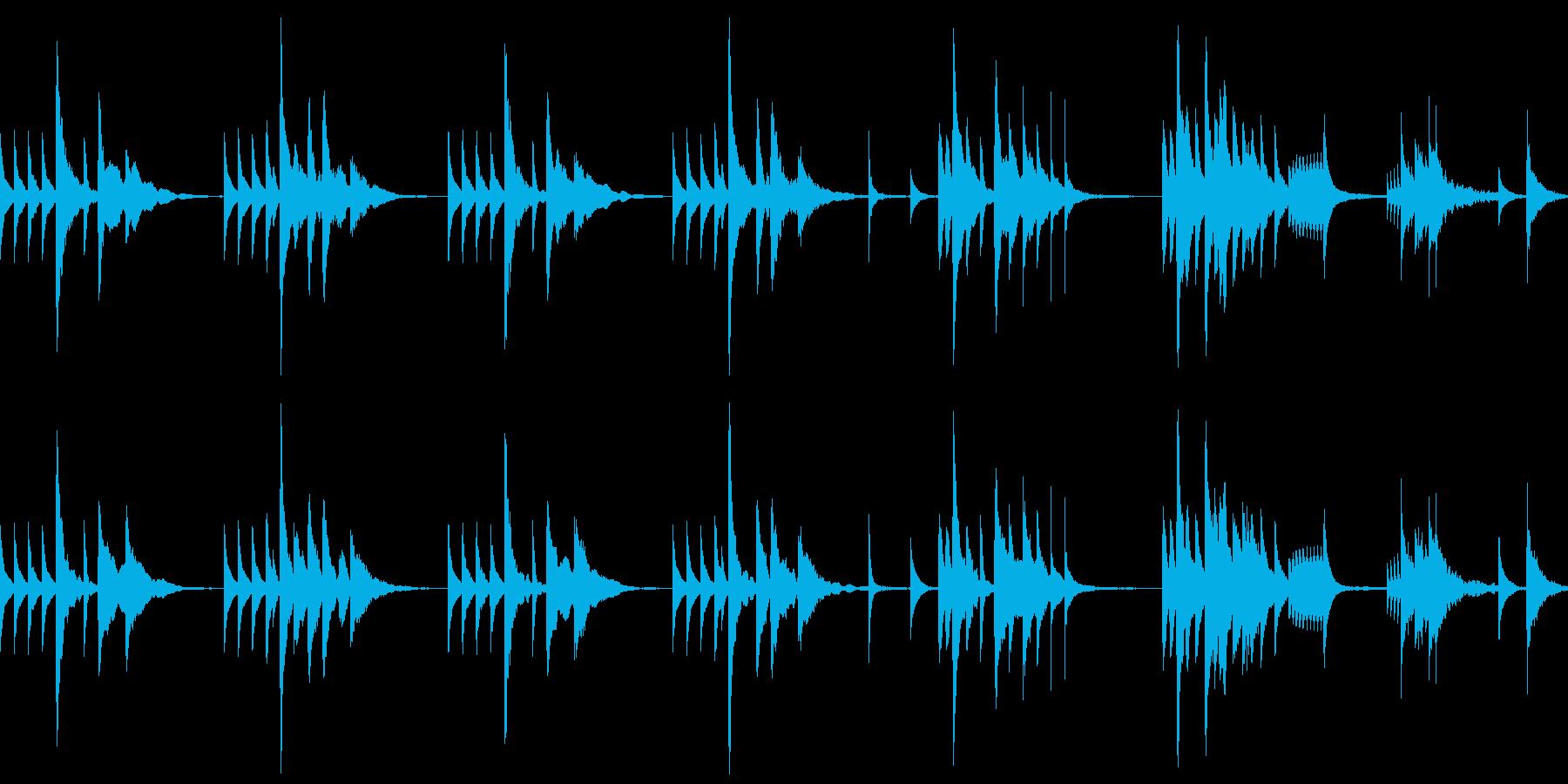 ループ仕様 怪しいジャズなグルメ番組風の再生済みの波形