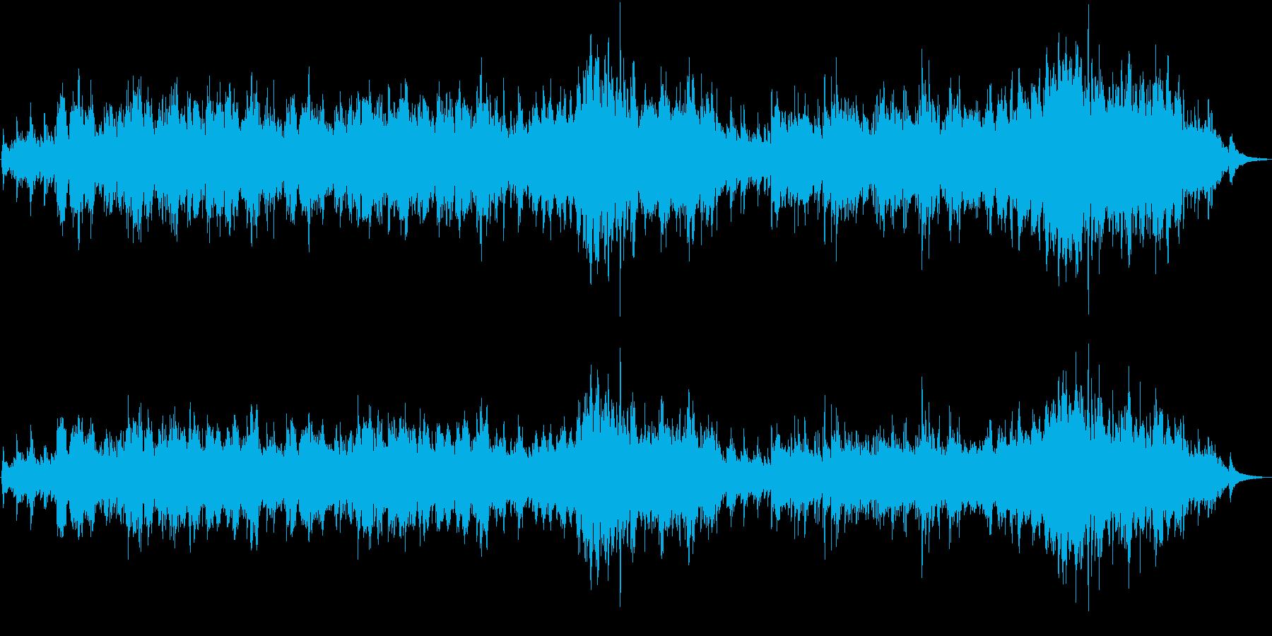 二胡の生演奏による穏やかでゆったりした曲の再生済みの波形