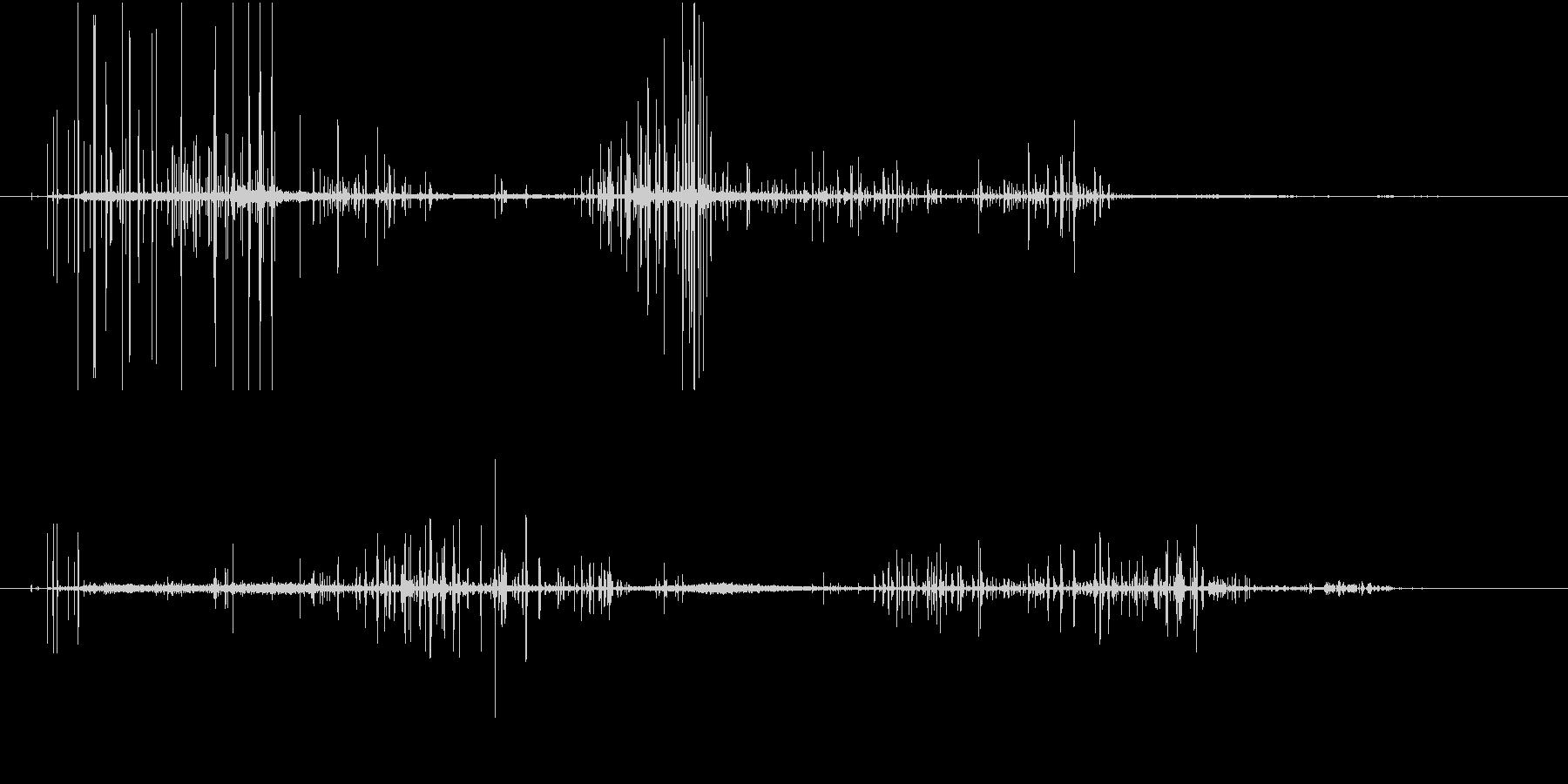 【SE 効果音】ノイズの未再生の波形