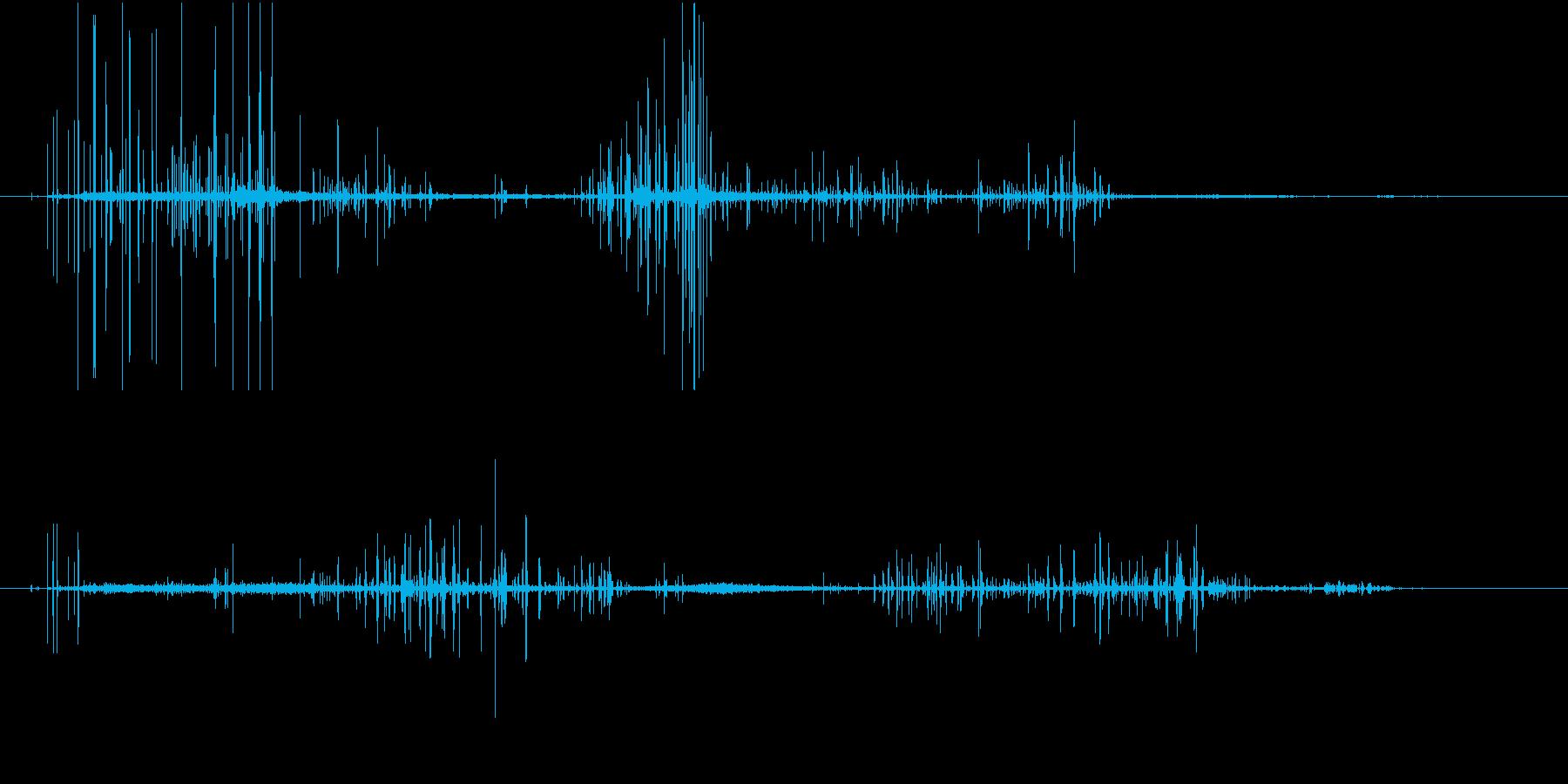 【SE 効果音】ノイズの再生済みの波形