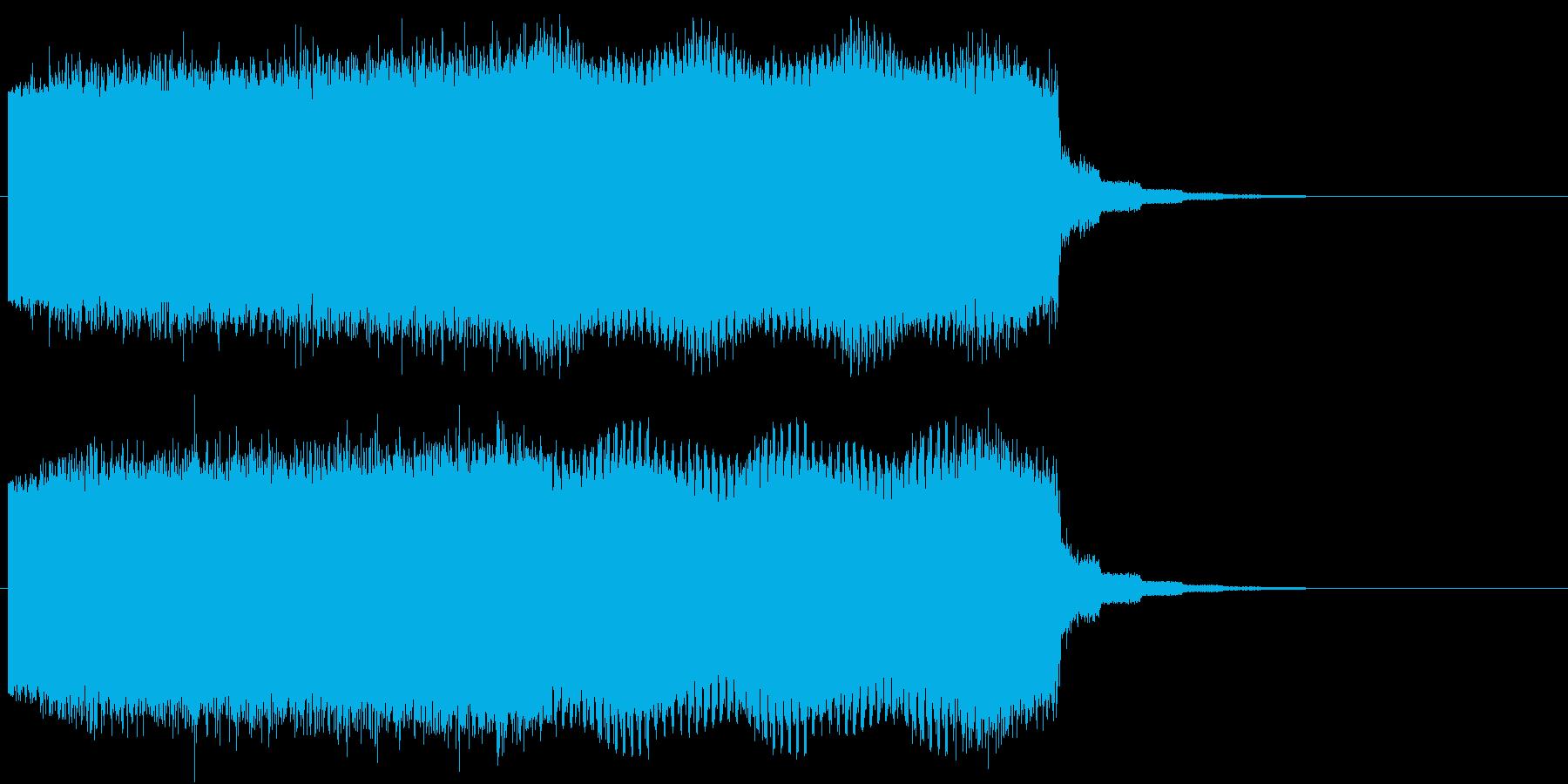 レトロなワープシーン、時をかける系の再生済みの波形