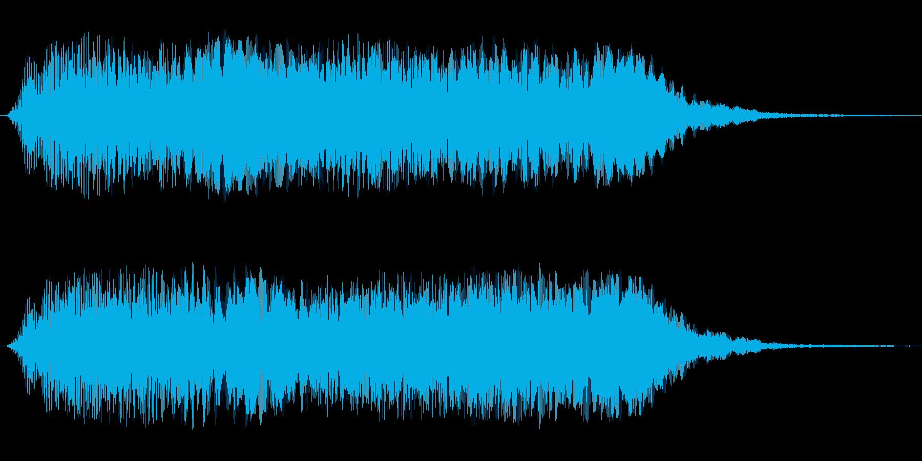 壮大なシンセサイザーのオープニング効果音の再生済みの波形