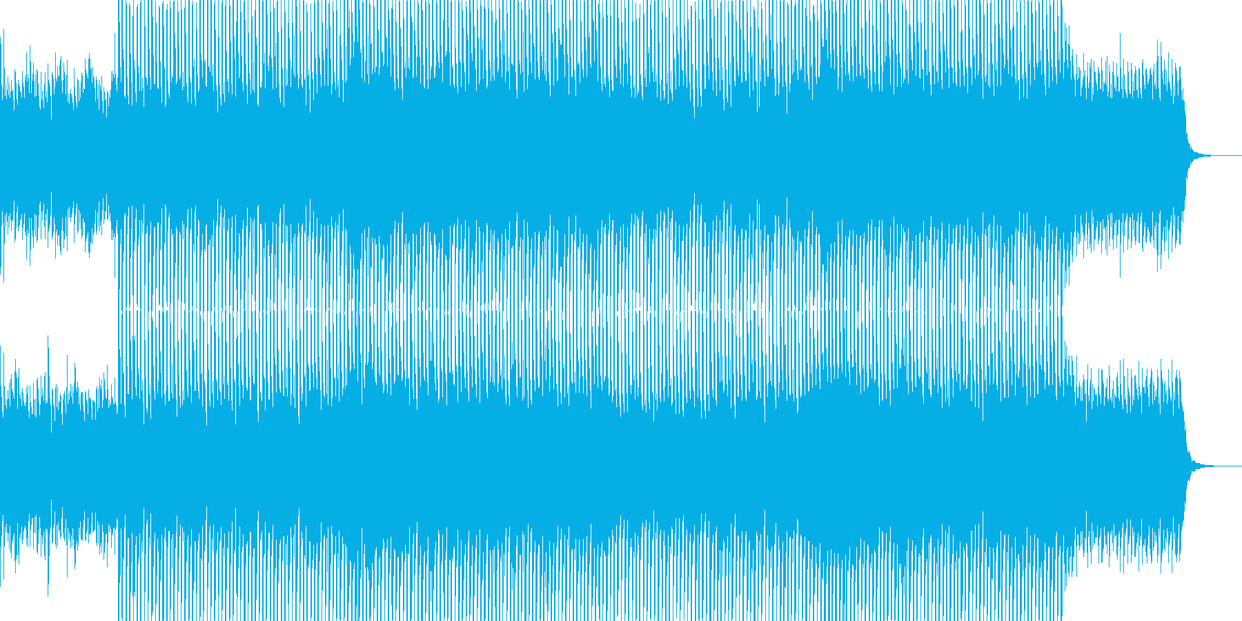 EDMクラブ系ダンスミュージック-36の再生済みの波形