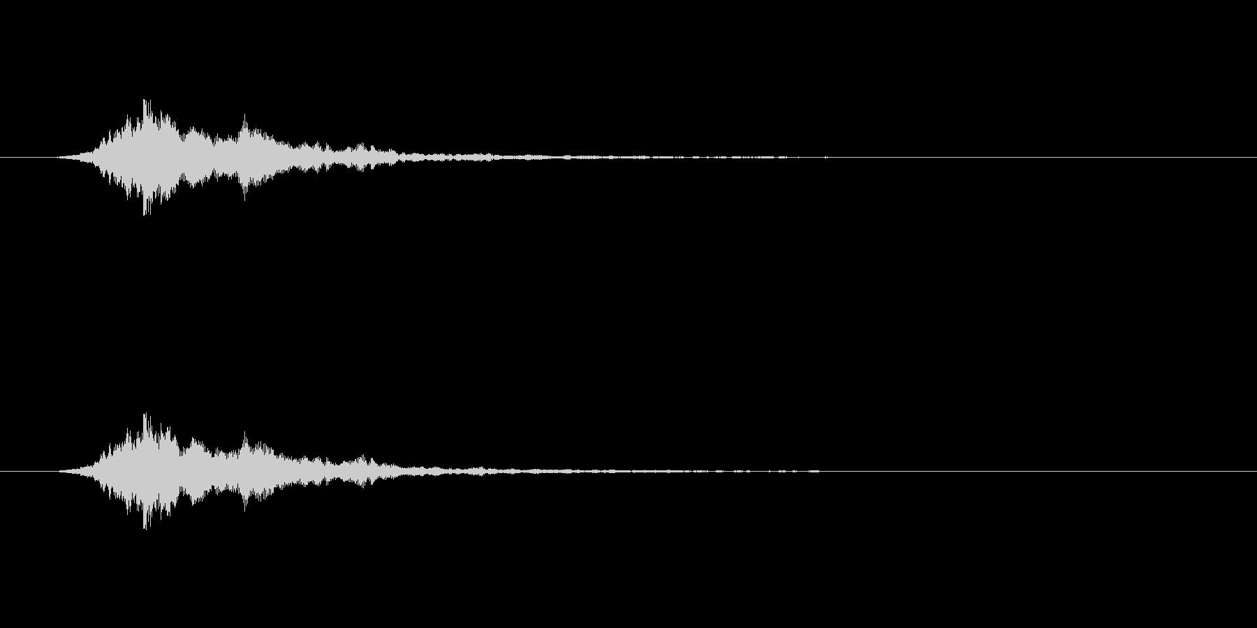 【アクセント12-3】の未再生の波形