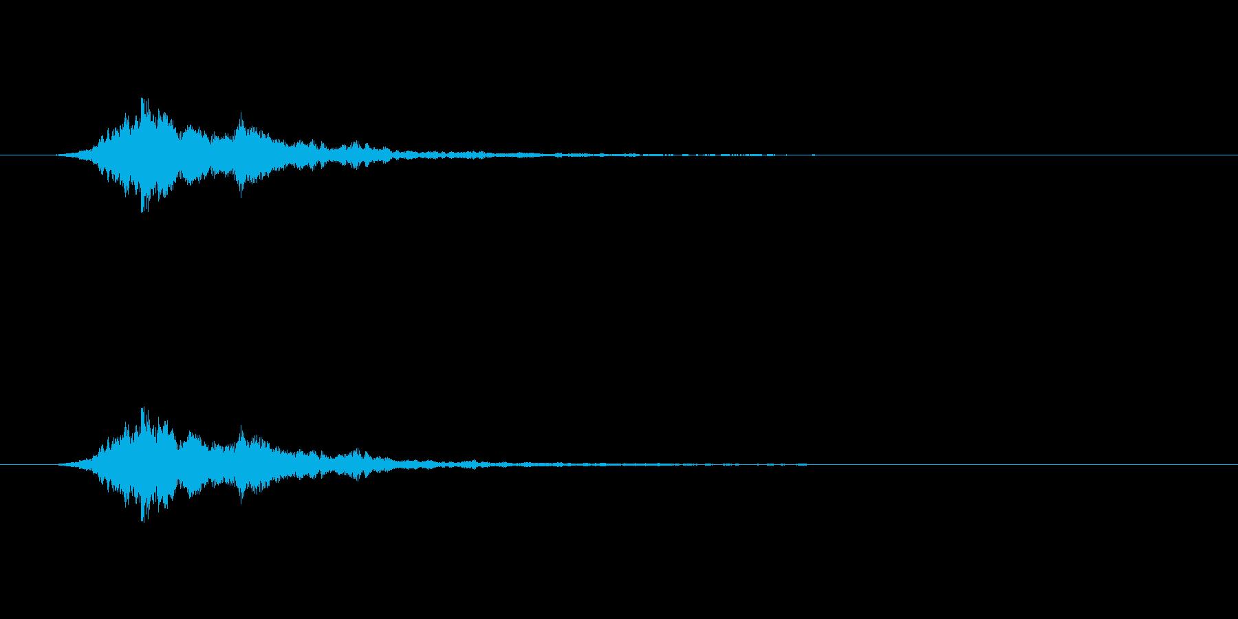 【アクセント12-3】の再生済みの波形
