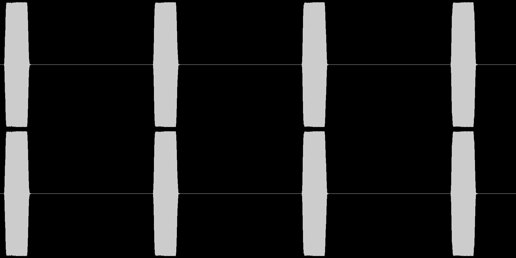 電話 呼び出し音 プッ×4の未再生の波形