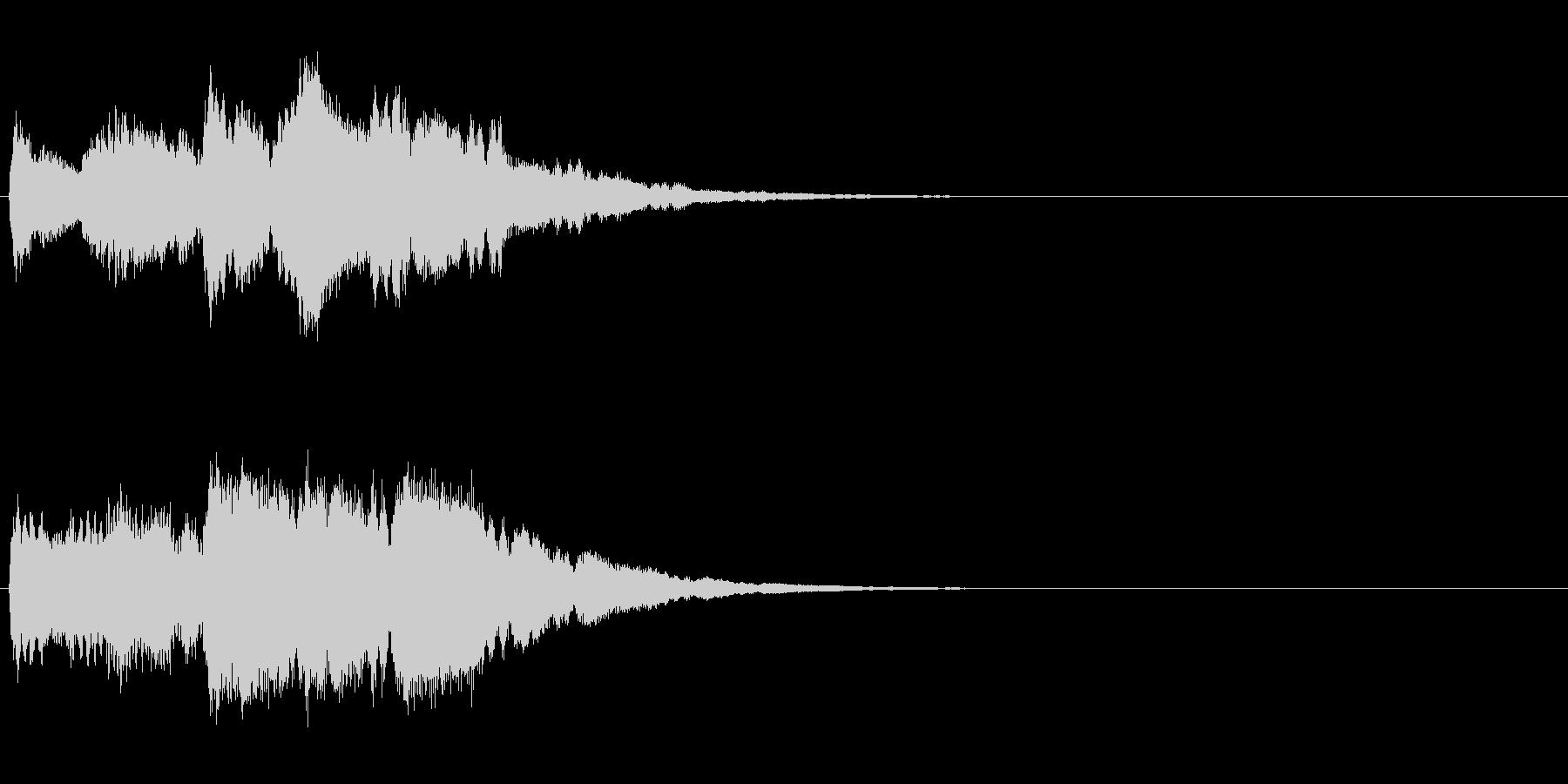 キラキラリーン/クリスタル音スロー上昇音の未再生の波形