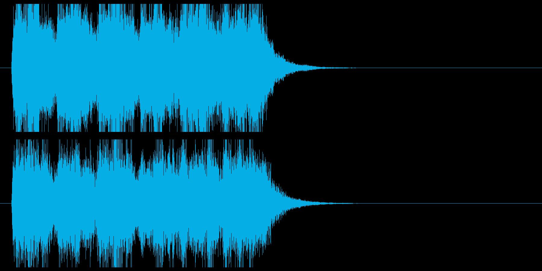 オーケストラの登場曲系ジングルの再生済みの波形