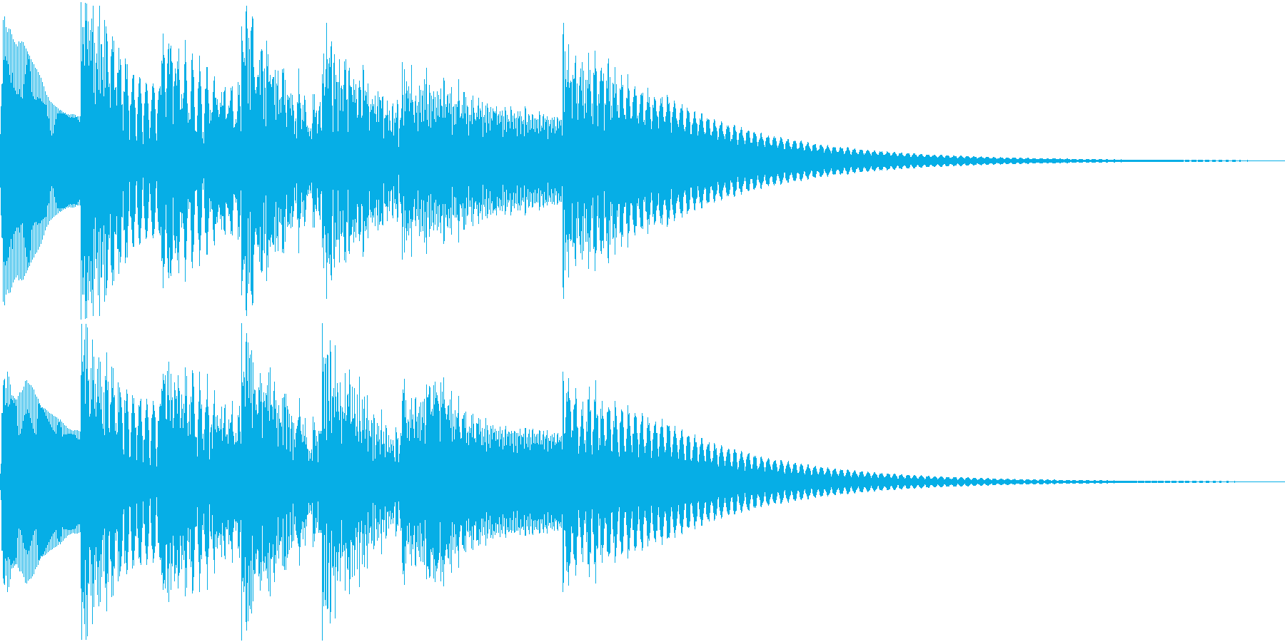 シンプルベル お知らせ ハテナ ? 20の再生済みの波形